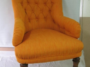 Button back chair upholstery